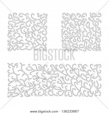 stock vector abstract set of wave pattern. summer design elements for template