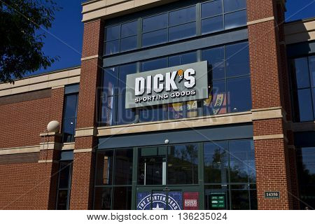 Indianapolis - Circa June 2016: Dick's Sporting Goods Retail Location. Dick's is an Authentic Full-Line Sporting Goods Retailer II
