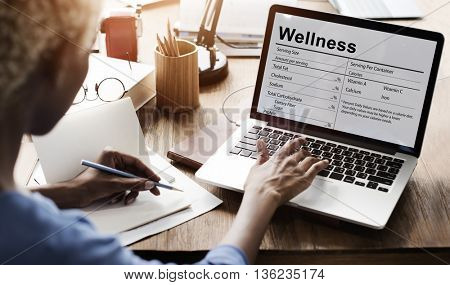 Nutrition Supplement Wellness Healthcare Nutrients Concept
