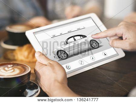 Car Rental Salesman Automobile Vehicles Concept