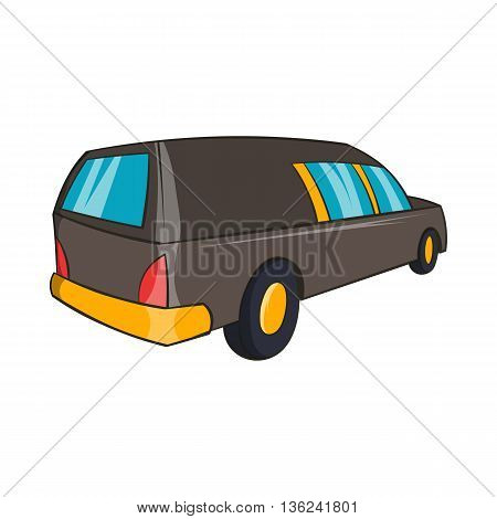 Hearse icon in cartoon style isolated on white background. Transport symbol