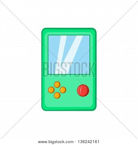 Tetris icon in cartoon style isolated on white background. Games and toys symbol