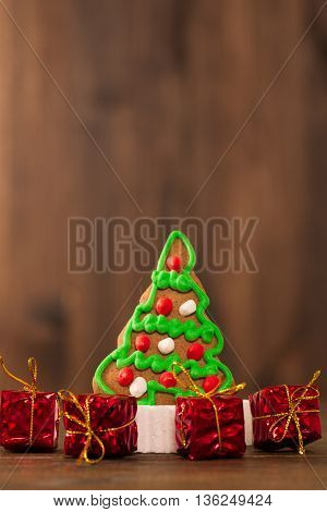 Christmas Cookies. Chip Cookies On Rustic Wooden Table. Holiday Cake. Holiday Biscuit. Biscuits. Sta