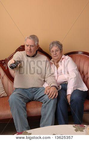Seniors Watching Tv.