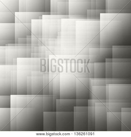 Abstract background of squares and rectangles shapes in nuance from dark grey to white color
