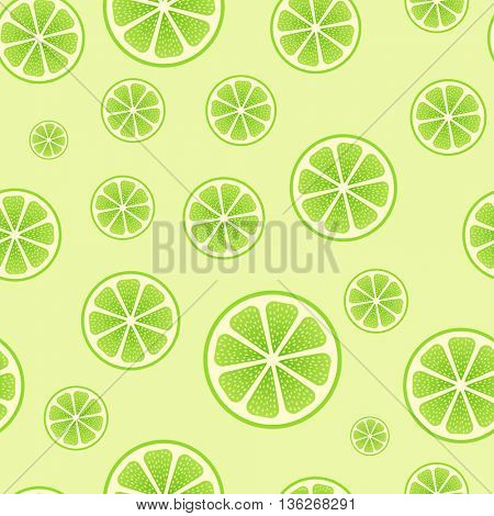 Abstract seamless green lime vector background. Wrapping paper lime vector template.