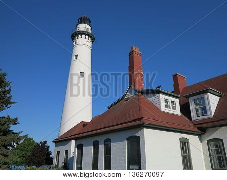 Wind Point Lighthouse in Racine, Wisconsin area