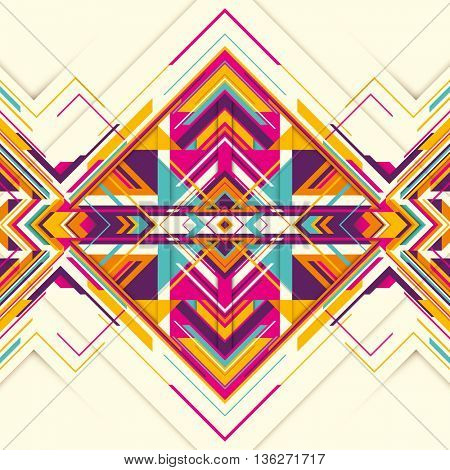 Futuristic abstraction with geometric elements. Vector illustration.