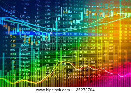 Financial Stock Market Data. Candle Stick Graph Chart Of Stock Market ,stock Market Data Graph Chart