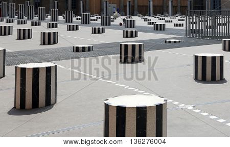 PARIS, FRANCE - JUNE 8, 2013:Columns of Buren
