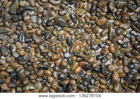 Close up River Stone Background with copy space
