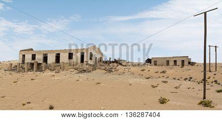 Namibia, Kolmanskop - September, 14. 2014: Ghost Town