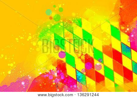 Creative artistic carnival or birthday copy space background