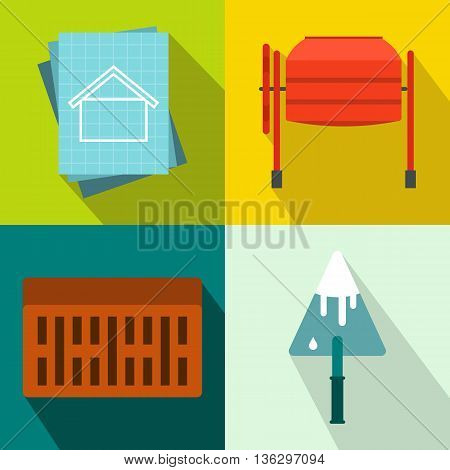 Architecture banners set in flat style for any design