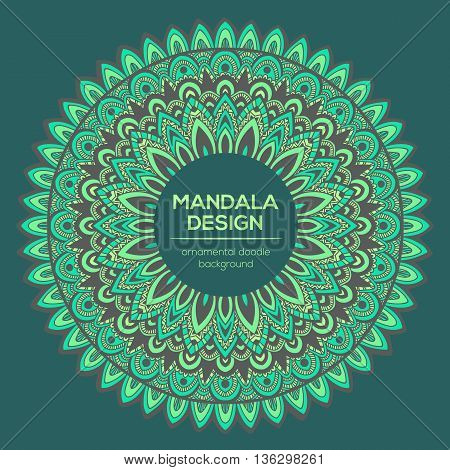 Vector Mandala Decor For Your Design With Abstract Ornament