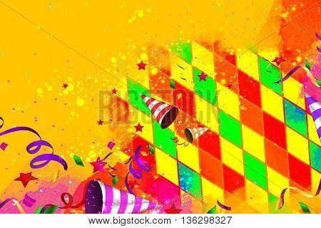 Creative colorful carnival artistic copy space background design