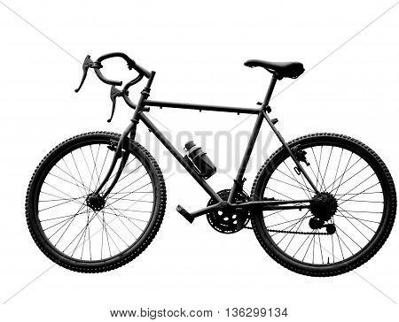 Black Sport Bike On White Background