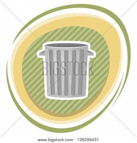 Trash Bin Colorful Icon