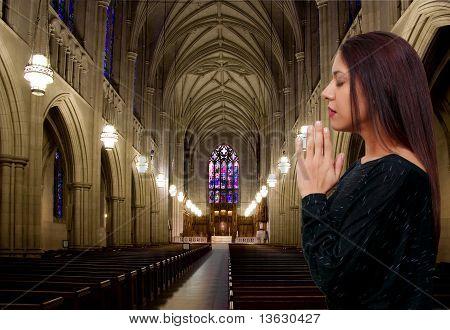 Hispanic Latino Woman Praying