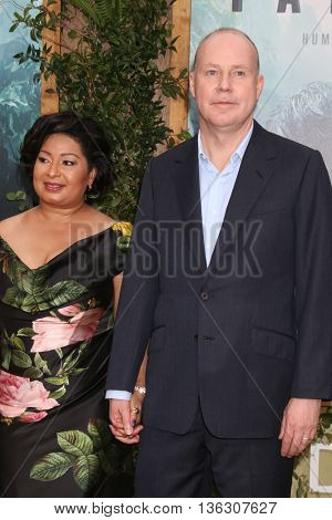 LOS ANGELES - JUN 27:  Yvonne Walcott, David Yates at The Legend Of Tarzan Premiere at the Dolby Theater on June 27, 2016 in Los Angeles, CA