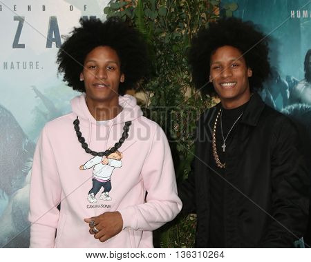 LOS ANGELES - JUN 27:  Les Twins, Larry Bourgeois, Laurent Bourgeois at The Legend Of Tarzan Premiere at the Dolby Theater on June 27, 2016 in Los Angeles, CA