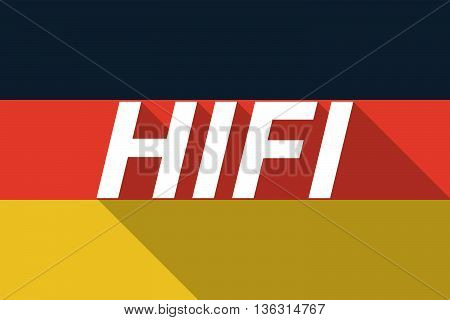 Vector Long Shadow Germany Flag With    The Text Hifi