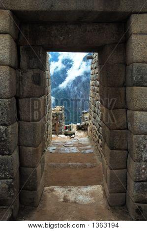 Machu Picchu, Inca Ruins, Doorway
