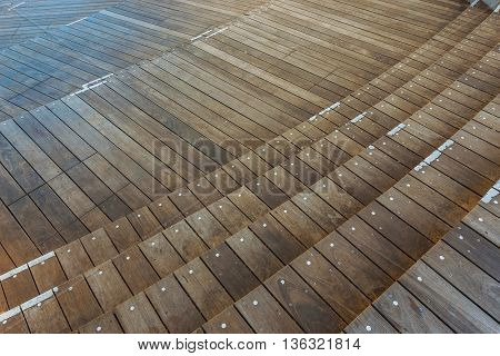 Multi levels Wood Panel at Mori Tower in Roppongi Hills Tokyo Japan