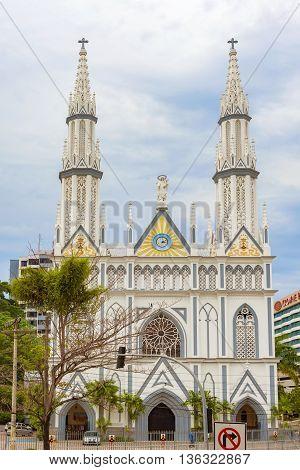 Facade Of El Carmen Church On Via Espania , El Cangrejo , Panama City , Panama