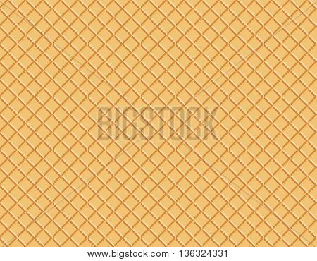 Wafer Pattern Vector Illustration waffle texture food