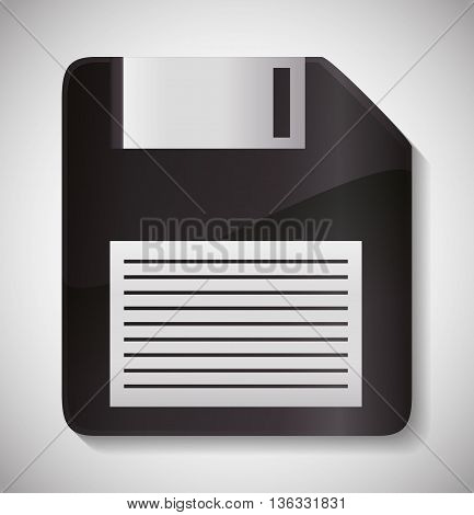 Technology concept represented by diskette icon. isolated and flat illustration