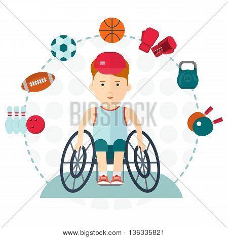 Handicapped Boy Choose Sport
