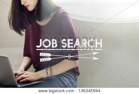 Job Search Employment Headhunting Career Concept