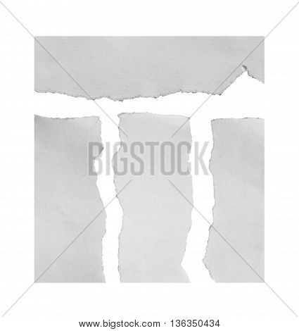 torn paper isolated over white background with clipping path.