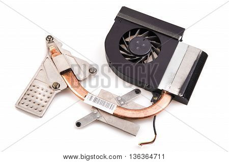 cooler with a cooler with a laptop on a white background