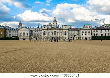 London UK - June 21, 2016 - Horse Guards Building between Whitehall and Horse Guards Parade