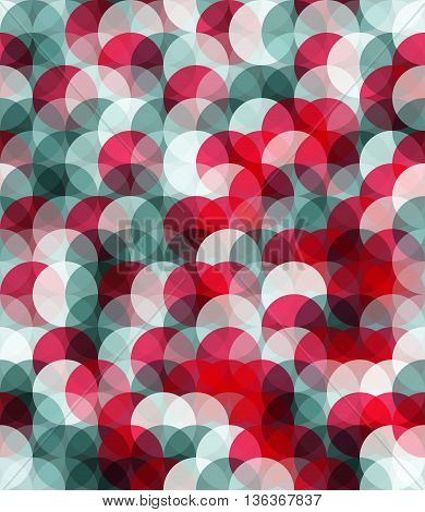 Red and grey color seamless pattern. Circle spackling figures. EPS 10
