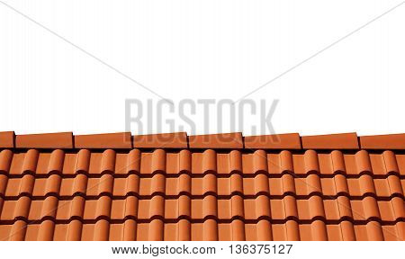 Sunlight roof isolated on white background with copy space