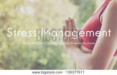 Stress Management Keep Calm Relaxation Calmness Concept
