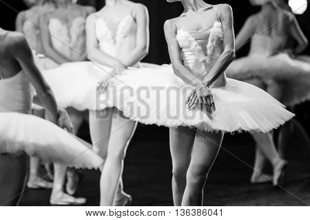 Ballet swan lake. Hands of ballerinas. Ballet statement. Great ballerinas. Ballerinas in the movement.