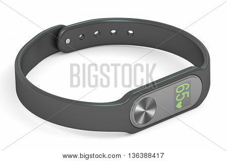activity tracker or fitness bracelet 3D rendering