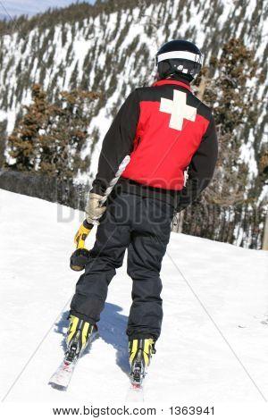 Ski Patrol With Drill