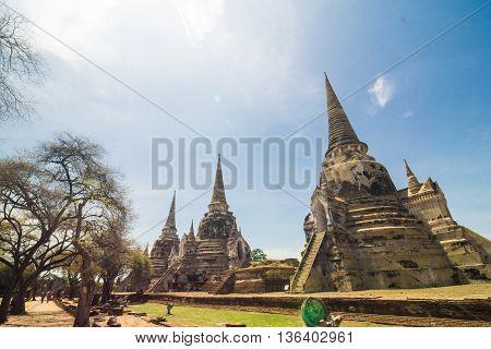 Wat Phrasrisanphet Old Temple Ayutthaya Historical Park