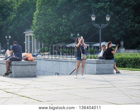 Tourists Visiting Berlin