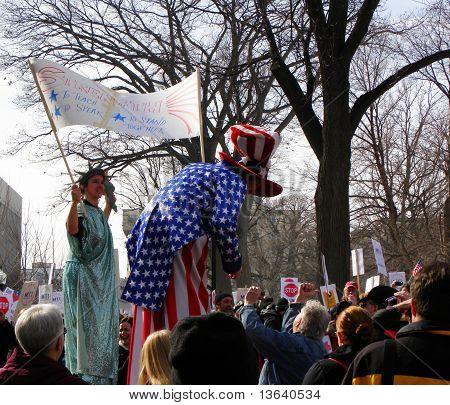 Uncle Sam & Lady Liberty