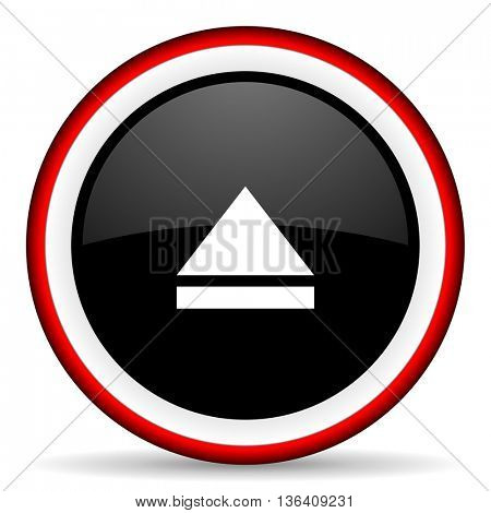 eject round glossy icon, modern design web element