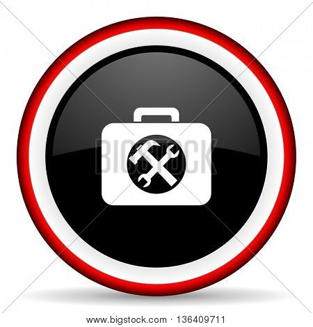 toolkit round glossy icon, modern design web element