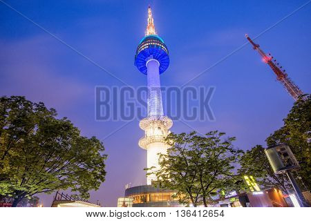 SEOUL South Korea - MAY 24:N Seoul Tower. MAY 24 2016 in Seoul South Korea
