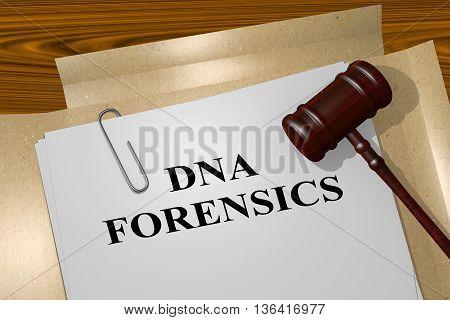 Dna Forensics Legal Concept