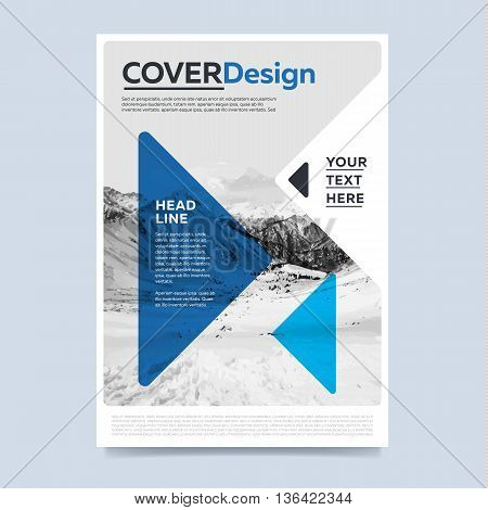 Colorful Brochure Design Template Vector  Photo  Bigstock